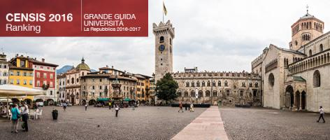 The University of Trento is the highest ranking among italian Universities