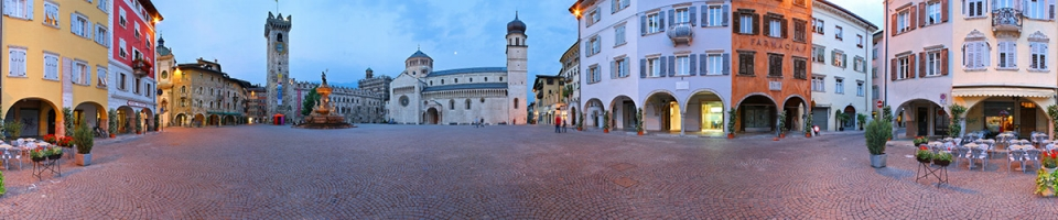 Cathedral square of Trento city