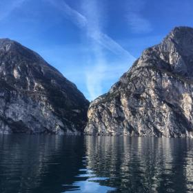 Vie of Lake Garda from the monitoring boat ©Francesco Lanzillo