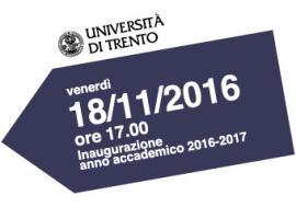 Unitn Calendario Accademico.Inaugurazione Dell Anno Accademico 2016 2017 Unitrento